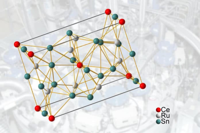 A compound of cerium, ruthenium and tin -- with surprising properties.