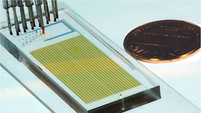 A MITOMI microfluidic device
