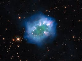 Hubble captured a view of the Necklace Nebula