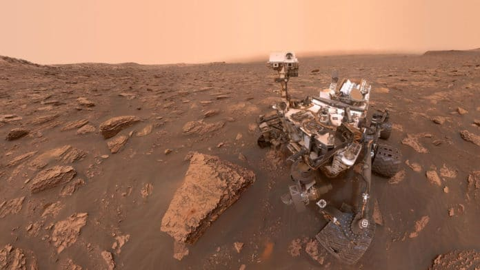 NASA's curiosity rover selfie on Mars surface
