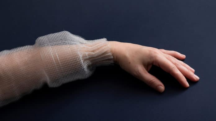 DIgital Fiber on a hand