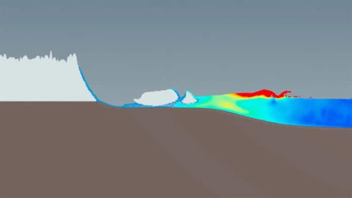 New model simulates the tsunamis caused by iceberg calving