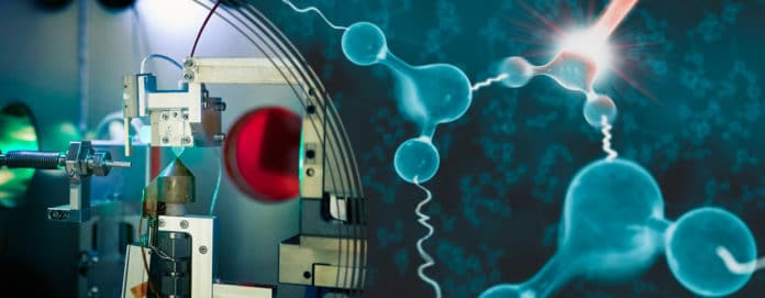 Image showing quantum tug between water molecules