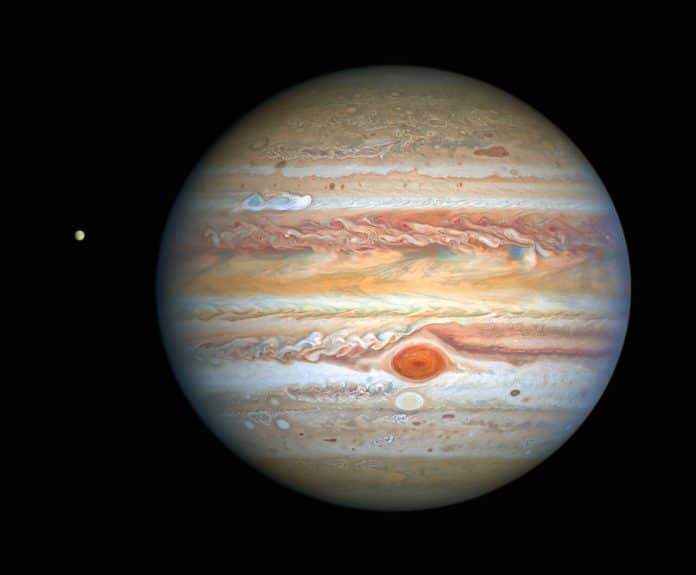 Hubble's View of Jupiter and Europa in August 2020