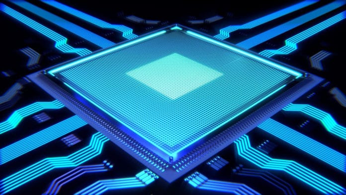 Image showing processor chip