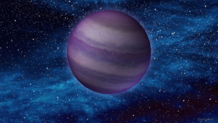 cold brown dwarf in space