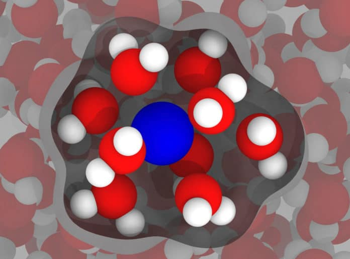 Image shows a gadolinium ion