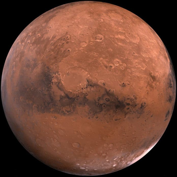 Image is the artistic impression of red planet