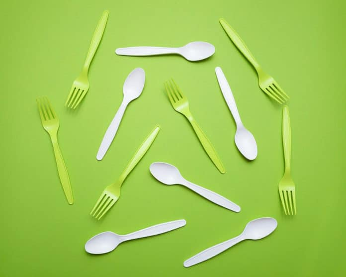 Image showing plastic cutlery