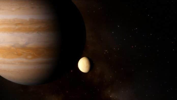 Artist's Impression of Jupiter and Europa