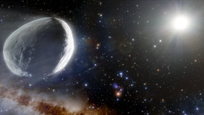 Illustration of Comet Bernardinelli-Bernstein