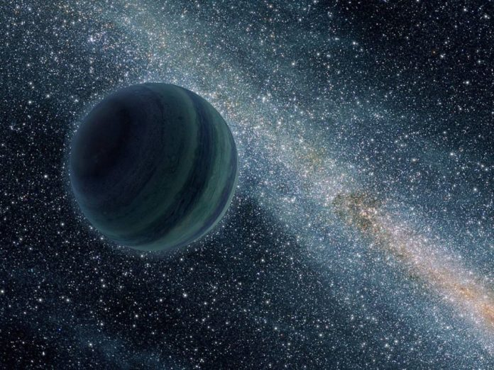This artist's conception illustrates a Jupiter-like planet