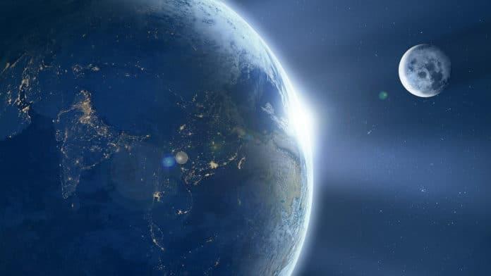 Image showing Earth-moon
