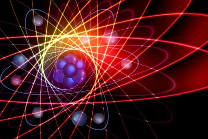 Image showing atoms, light
