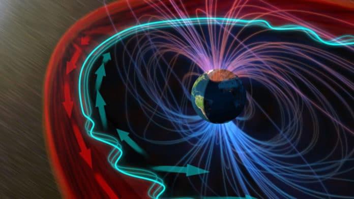 When solar wind strikes magnetosphere